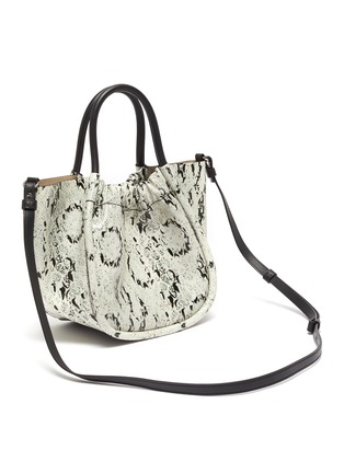 Detail View - Click To Enlarge - PROENZA SCHOULER - Ruched snake embossed leather tote