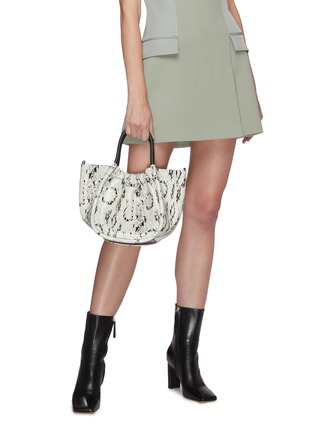 Front View - Click To Enlarge - PROENZA SCHOULER - Ruched snake embossed leather tote