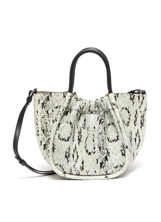 Main View - Click To Enlarge - PROENZA SCHOULER - Ruched snake embossed leather tote