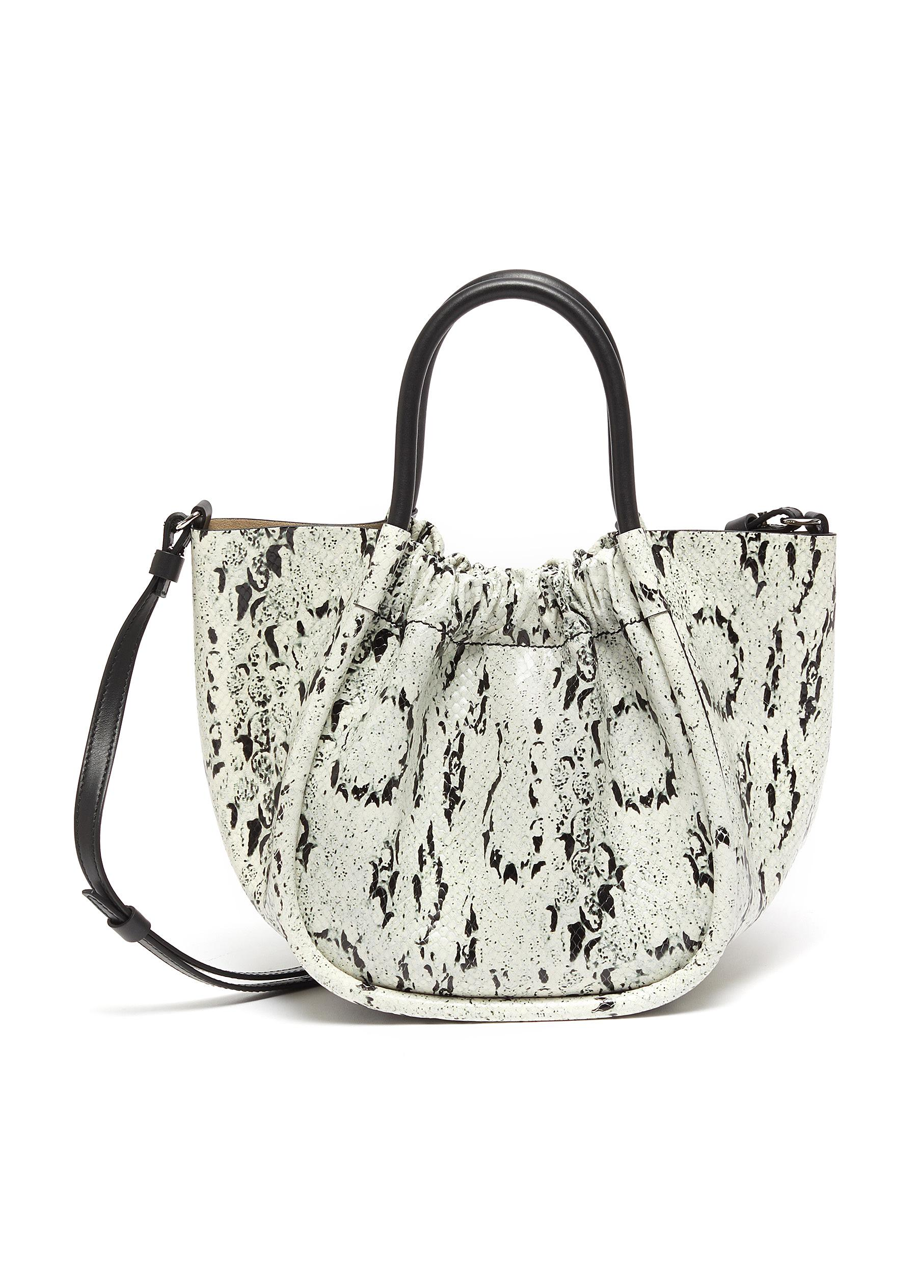 Proenza Schouler RUCHED SNAKE EMBOSSED LEATHER TOTE