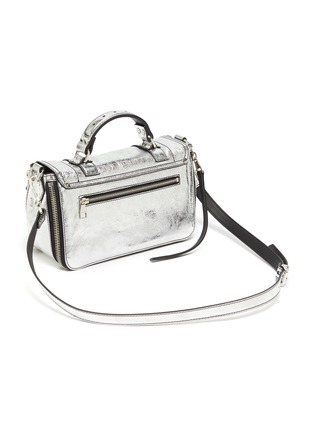 Detail View - Click To Enlarge - PROENZA SCHOULER - 'PS1 Tiny' metallic leather bag