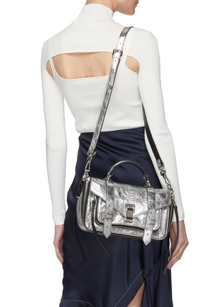 Figure View - Click To Enlarge - PROENZA SCHOULER - 'PS1 Tiny' metallic leather bag