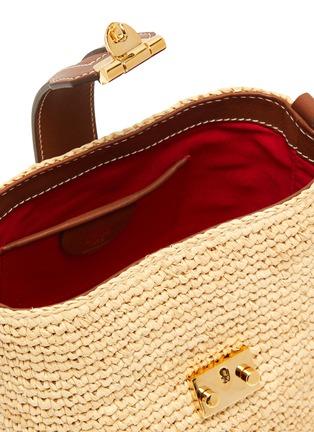 Detail View - Click To Enlarge - MARK CROSS - Murphy Mini raffia shoulder bag