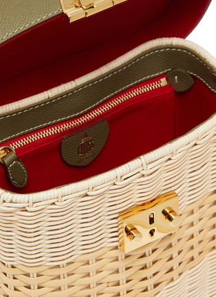 Detail View - Click To Enlarge - MARK CROSS - Benchley rattan shoulder bag
