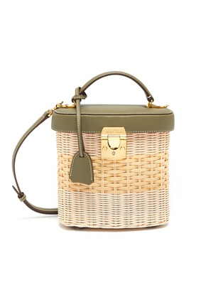 Main View - Click To Enlarge - MARK CROSS - Benchley rattan shoulder bag