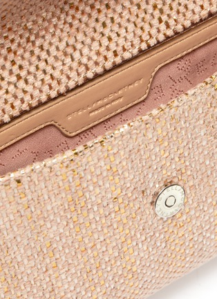 Detail View - Click To Enlarge - STELLA MCCARTNEY - 'Falabella' metallic woven mini crossbody bag