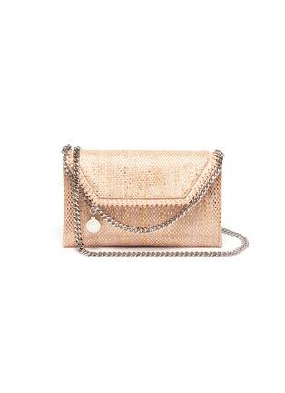 Main View - Click To Enlarge - STELLA MCCARTNEY - 'Falabella' metallic woven mini crossbody bag