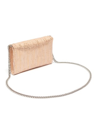 Figure View - Click To Enlarge - STELLA MCCARTNEY - 'Falabella' metallic woven mini crossbody bag