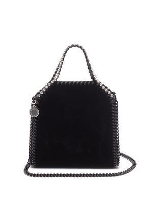 Main View - Click To Enlarge - STELLA MCCARTNEY - 'Tiny Falabella' crystal embellished velvet bag