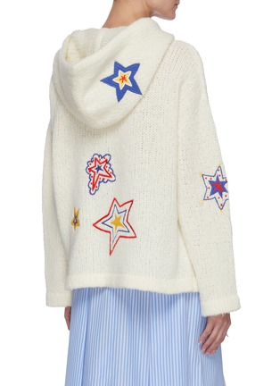 Back View - Click To Enlarge - MIRA MIKATI - Star embellished knit hoodie