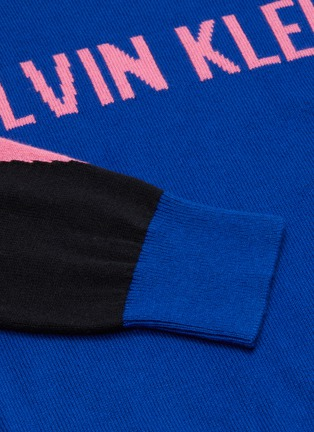 - CALVIN KLEIN PERFORMANCE - Colourblock logo crewneck knit sweater