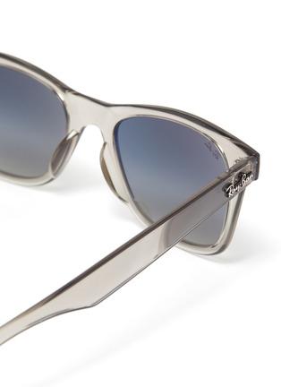 Detail View - Click To Enlarge - RAY-BAN - 'Wayfarer' transparent acetate square frame sunglasses