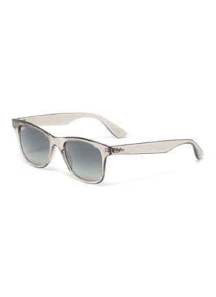 Main View - Click To Enlarge - RAY-BAN - 'Wayfarer' transparent acetate square frame sunglasses