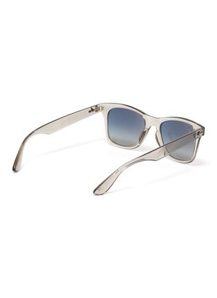 Figure View - Click To Enlarge - RAY-BAN - 'Wayfarer' transparent acetate square frame sunglasses