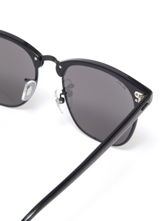 Detail View - Click To Enlarge - RAY-BAN - 'Clubmaster' acetate square frame sunglasses
