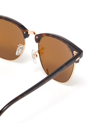 Detail View - Click To Enlarge - RAY-BAN - 'Clubmaster' tortoiseshell effect acetate square frame sunglasses