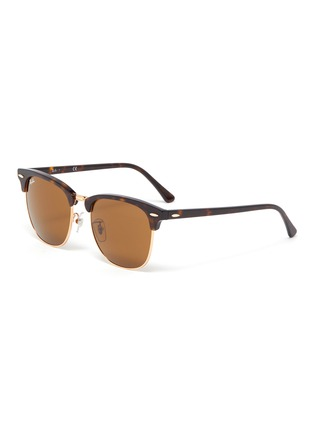 Main View - Click To Enlarge - RAY-BAN - 'Clubmaster' tortoiseshell effect acetate square frame sunglasses