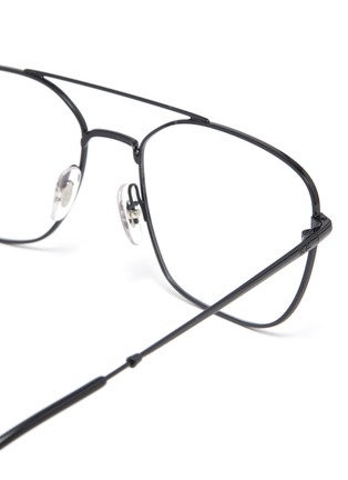Detail View - Click To Enlarge - RAY-BAN - Metal square frame optical glasses