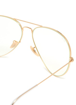 Detail View - Click To Enlarge - RAY-BAN - Metal frame aviator optical glasses