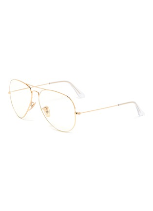 Main View - Click To Enlarge - RAY-BAN - Metal frame aviator optical glasses