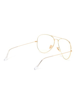 Figure View - Click To Enlarge - RAY-BAN - Metal frame aviator optical glasses