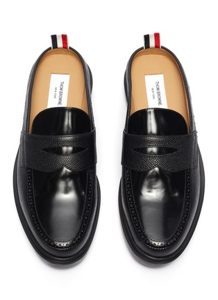 Figure View - Click To Enlarge - THOM BROWNE - Slip on penny loafers