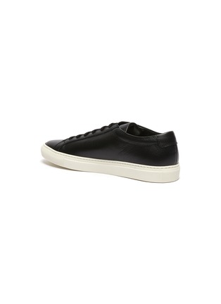 - COMMON PROJECTS - 'Achilles Pebble' lace up grain leather sneakers