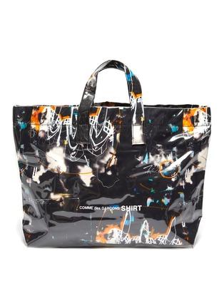 Main View - Click To Enlarge - COMME DES GARÇONS SHIRT - x Futura multi-coloured graphic print tote bag