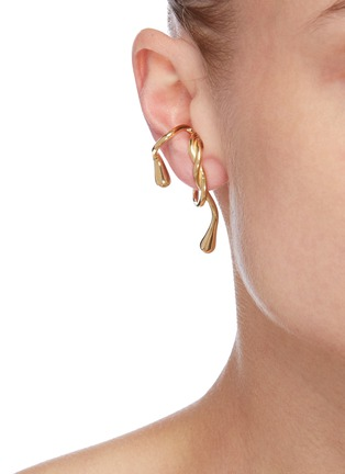 Figure View - Click To Enlarge - ANNE MANNS - 'Eila' 24 gold-plated sterling silver earpiece