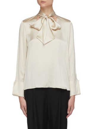 Main View - Click To Enlarge - ALICE + OLIVIA - Rosina tie neck blouse