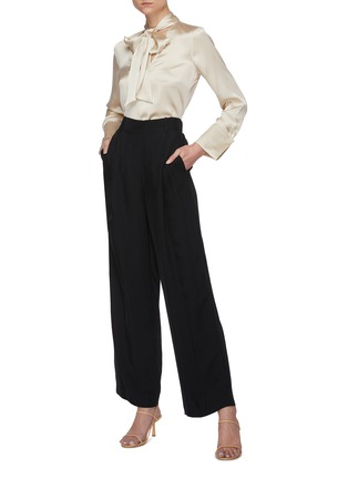 Figure View - Click To Enlarge - ALICE + OLIVIA - Rosina tie neck blouse