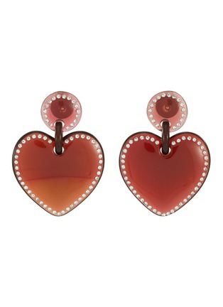 Main View - Click To Enlarge - LELE SADOUGHI - Jewel stitched heart earrings