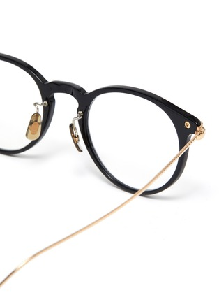 Detail View - Click To Enlarge - OLIVER PEOPLES ACCESSORIES - Acetate frame metal temples rounded optical glasses
