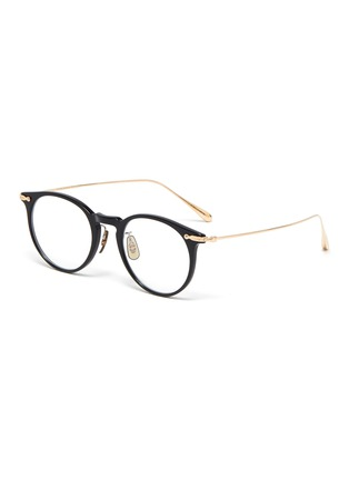 Main View - Click To Enlarge - OLIVER PEOPLES ACCESSORIES - Acetate frame metal temples rounded optical glasses