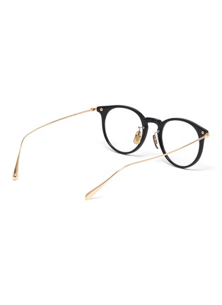 Figure View - Click To Enlarge - OLIVER PEOPLES ACCESSORIES - Acetate frame metal temples rounded optical glasses