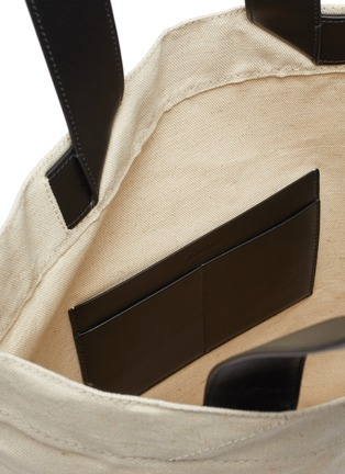 Detail View - Click To Enlarge - JIL SANDER - Logo print canvas tote bag