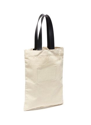 Figure View - Click To Enlarge - JIL SANDER - Logo print canvas tote bag