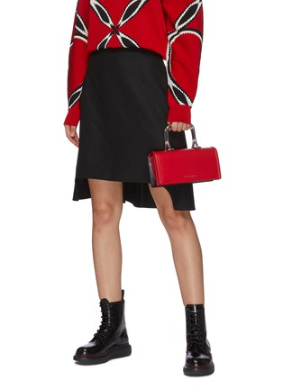 Front View - Click To Enlarge - ALEXANDER MCQUEEN - 'Story Book' leather shoulder bag