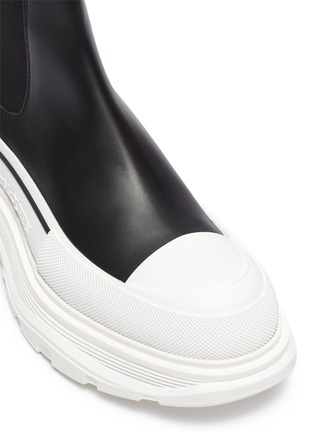 Detail View - Click To Enlarge - ALEXANDER MCQUEEN - Chunky Outsole Cap Toe Chelsea Boots
