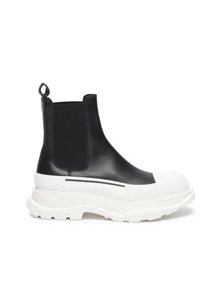 Main View - Click To Enlarge - ALEXANDER MCQUEEN - Chunky Outsole Cap Toe Chelsea Boots