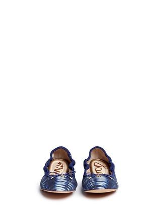 Front View - Click To Enlarge - Sam Edelman - 'Felicia' tie dye canvas ballet flats