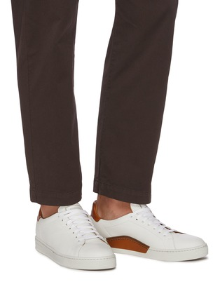 Figure View - Click To Enlarge - MAGNANNI - 'Opanca' Low Top Grain Leather Sneakers