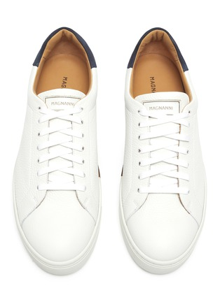 Detail View - Click To Enlarge - MAGNANNI - 'Opanca' Low Top Grain Leather Sneakers