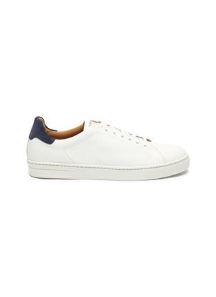 Main View - Click To Enlarge - MAGNANNI - 'Opanca' Low Top Grain Leather Sneakers