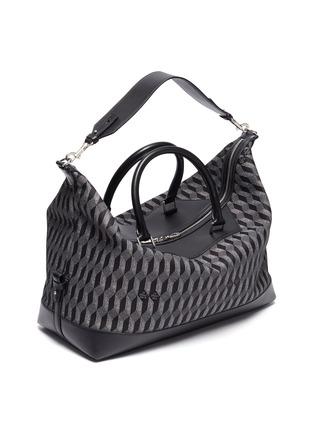 Detail View - Click To Enlarge - AU DÉPART - 'Louis' geometric pattern leather trim weekender bag