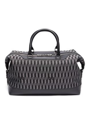Main View - Click To Enlarge - AU DÉPART - 'Louis' geometric pattern leather trim weekender bag