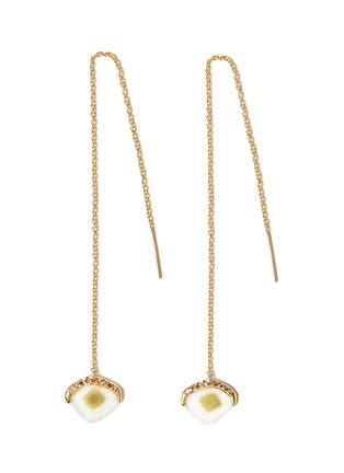 Main View - Click To Enlarge - TSURA - 'Slice' diamond 18k gold drop earrings
