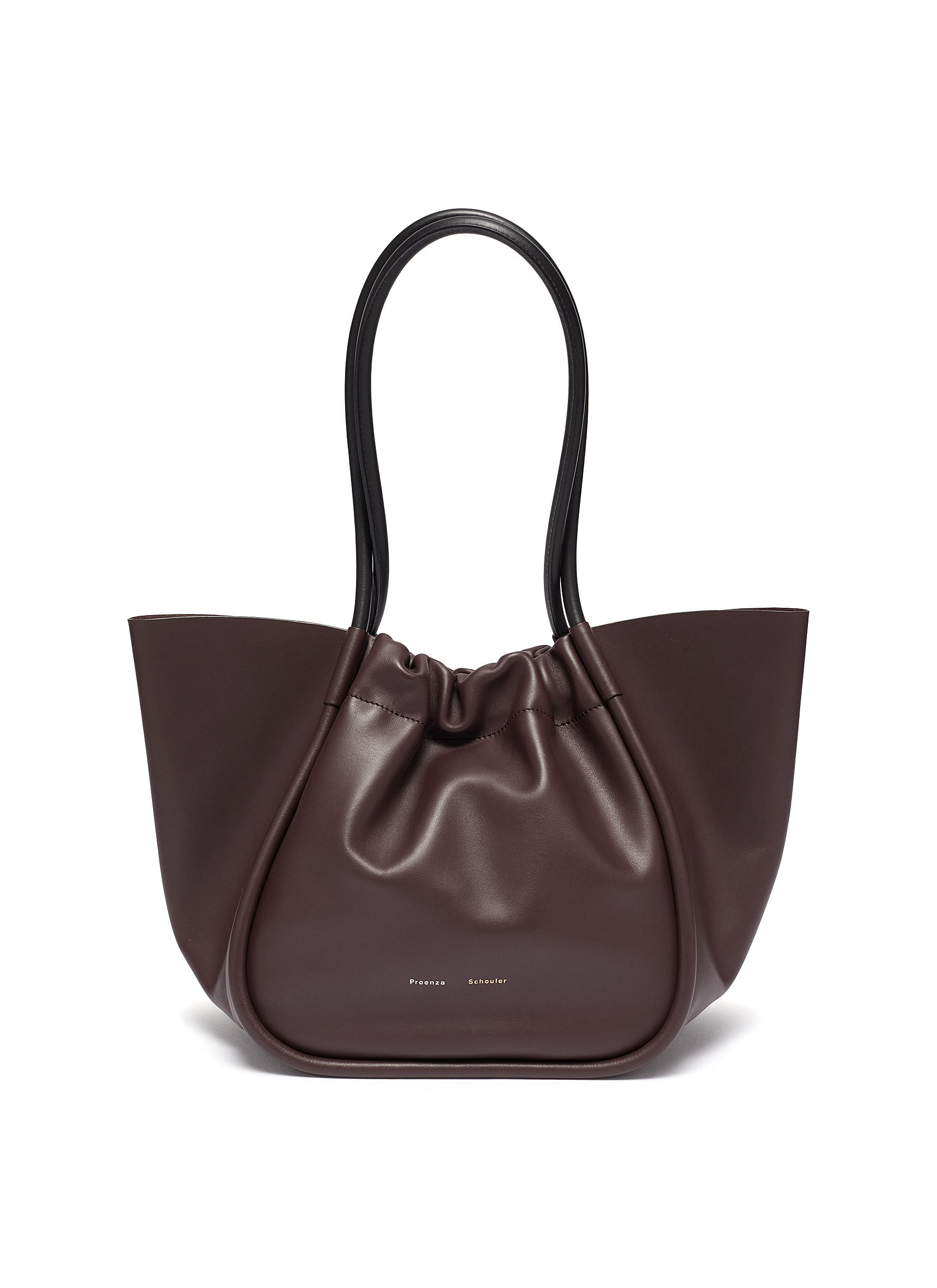 Proenza Schouler RUCHED LARGE LEATHER TOTE