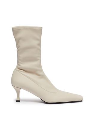 Main View - Click To Enlarge - PROENZA SCHOULER - Square toe stretch leather boots