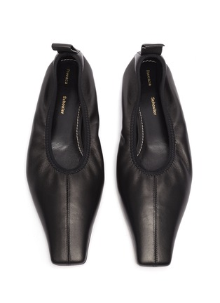 Detail View - Click To Enlarge - PROENZA SCHOULER - Square toe leather ballerina flats